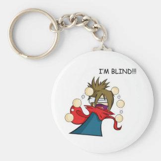 Blind Basic Round Button Key Ring