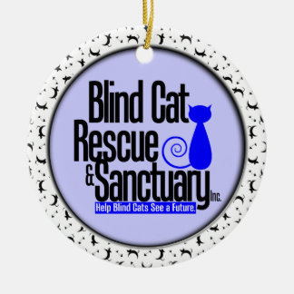 Blind Cat Rescue & Sanctuary Double-Sided Ceramic Round Christmas Ornament