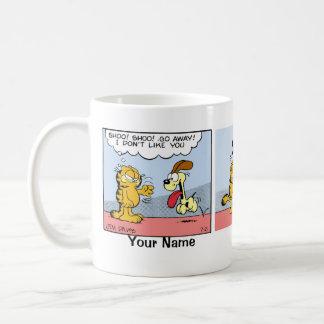 """Blind Devotion"" Garfield Comic Strip Basic White Mug"