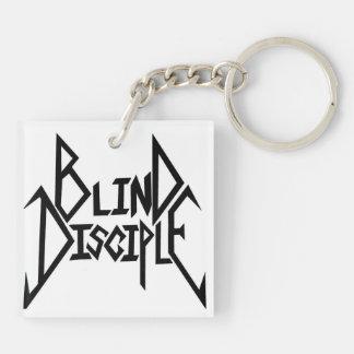 Blind Disciple  b/w logos keychain