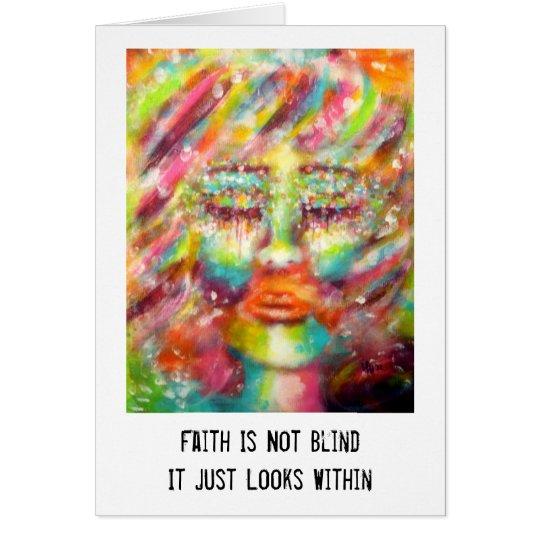 """""""Blind Faith"""" Art & Quote Card"""