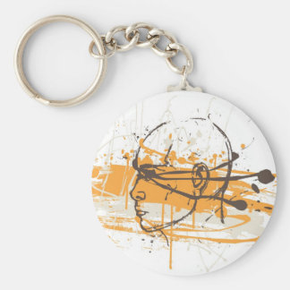 Blind Justice Basic Round Button Key Ring