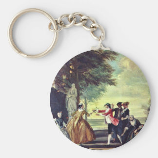 Blind Man'S Bluff.,  By Cornelis Troost Key Chains