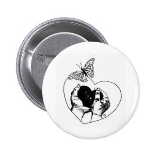 Blind River Palliative Care Logo (B&W) 6 Cm Round Badge