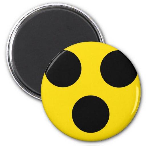 blind sign 6 cm round magnet