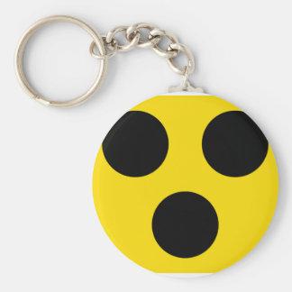 blind sign basic round button key ring