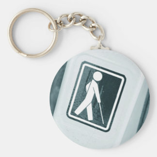 Blind sign design basic round button key ring
