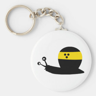 blind snail icon basic round button key ring