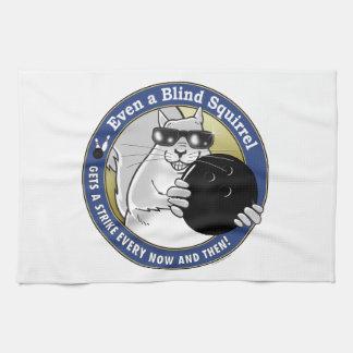 Blind Squirrel Bowling Tea Towel