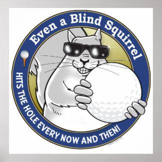 Blind Squirrel Golf Poster