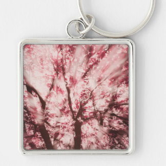 Blinded by your Light Silver-Colored Square Key Ring
