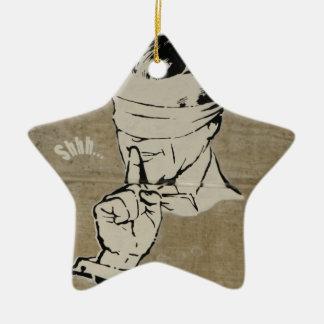 Blindfolded Christmas Ornament