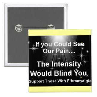 Blinding pain 15 cm square badge