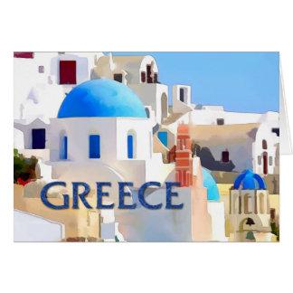 Blinding White Buildings in Greece Card