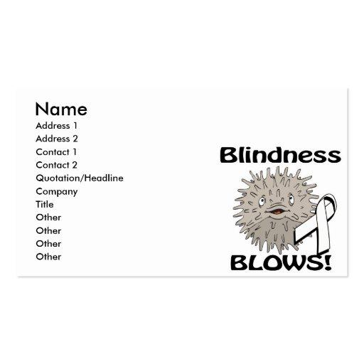 Blindness Blows Awareness Design Business Card