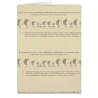 Blindness, Statistical US Lithograph 1870 Card