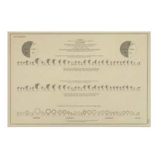 Blindness, Statistical US Lithograph 1870 Poster