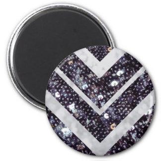 Bling 6 Cm Round Magnet