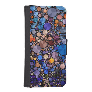 Bling Abstract  Iphone5 Faux Leather Wallet Case Phone Wallets