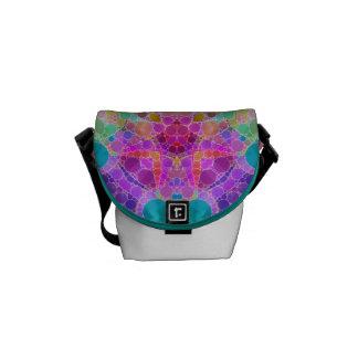 Bling Abstract Pattern Messenger Bag