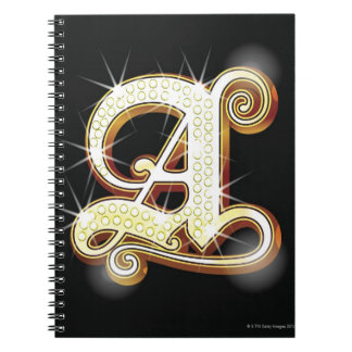 Bling alphabet A Notebook