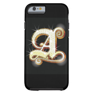 Bling alphabet A Tough iPhone 6 Case