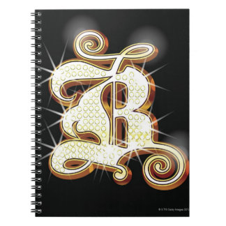 Bling alphabet B Notebook