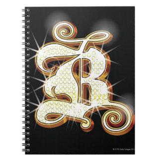 Bling alphabet B Spiral Notebook