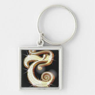 Bling alphabet C Key Ring