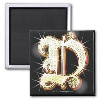 Bling alphabet D Magnet