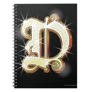 Bling alphabet D Notebook