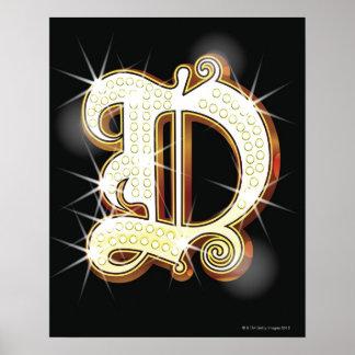 Bling alphabet D Poster