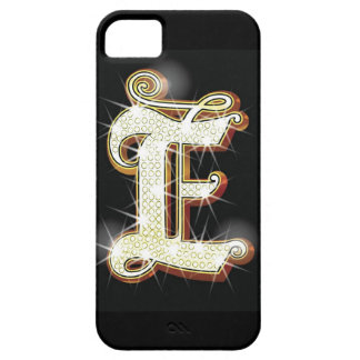Bling alphabet E Barely There iPhone 5 Case