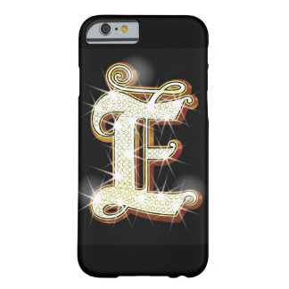 Bling alphabet E Barely There iPhone 6 Case