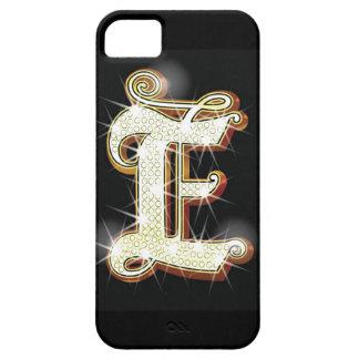 Bling alphabet E iPhone 5 Cases