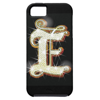 Bling alphabet E Case For The iPhone 5