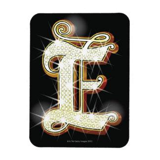 Bling alphabet E Rectangular Photo Magnet