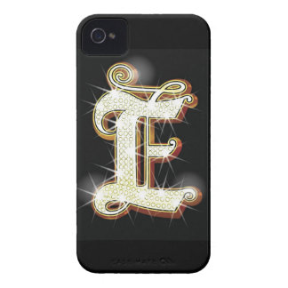 Bling alphabet E iPhone 4 Case