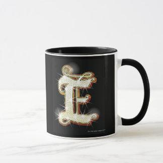 Bling alphabet E Mug