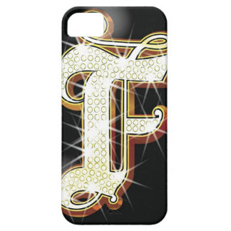Bling alphabet F Case For The iPhone 5