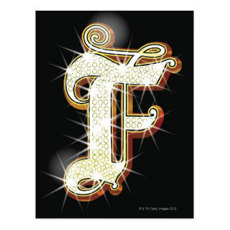 Bling alphabet F Postcard