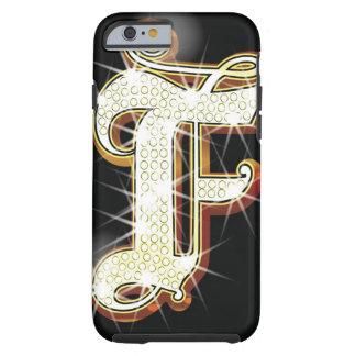 Bling alphabet F Tough iPhone 6 Case