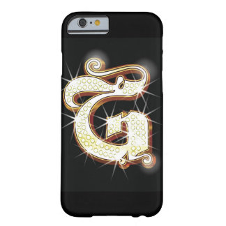 Bling alphabet G Barely There iPhone 6 Case
