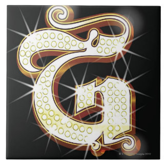Bling alphabet G Tile