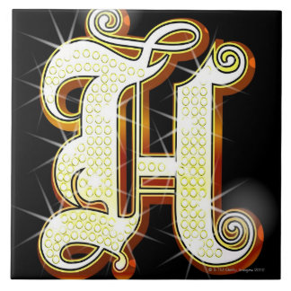 Bling alphabet H Tile