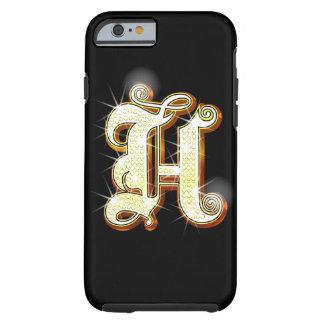 Bling alphabet H Tough iPhone 6 Case