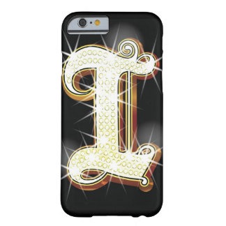 Bling alphabet I Barely There iPhone 6 Case