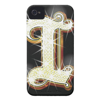 Bling alphabet I Case-Mate iPhone 4 Cases