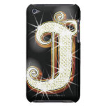 Bling alphabet J Barely There iPod Case