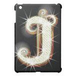 Bling alphabet J iPad Mini Cases